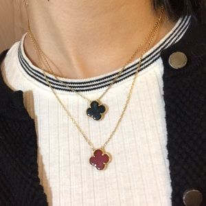 Gold plated Vintage Alhambra style necklace Cleef